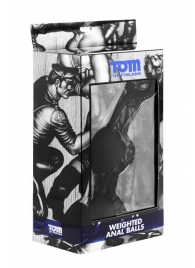 Анальные шарики Tom of Finland Weighted Anal Balls - XR Brands